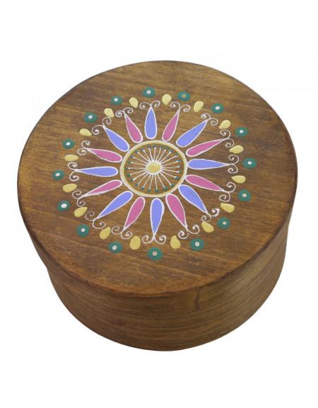 Коробка кругла зі шпону 16х7 см.