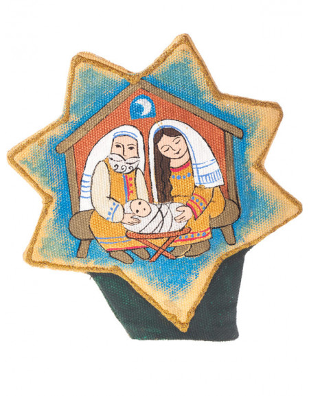 Large Christmas tree Topper «Holy Family»