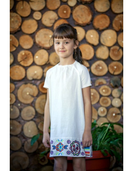 Girls' Dress «With Embroidered Bottom»