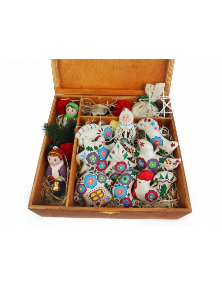 Christmas tree toys Big Set » Flowers on the Silver»