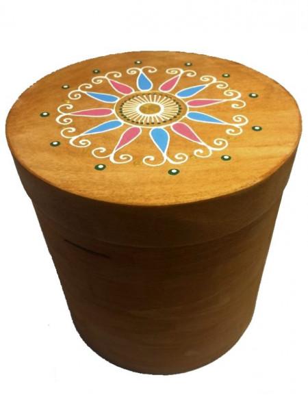 Коробка циліндрична коричнева 15х15см