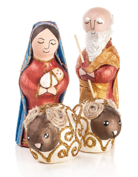 4-Person Sculpture Nativity Play in a craft box