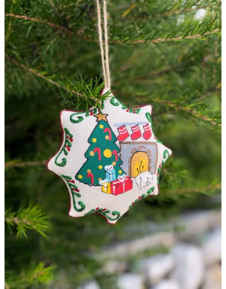 Vanilla Christmas Star «Christmas Tree & Cat»