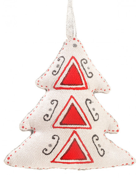 Silver Red Christmas Tree