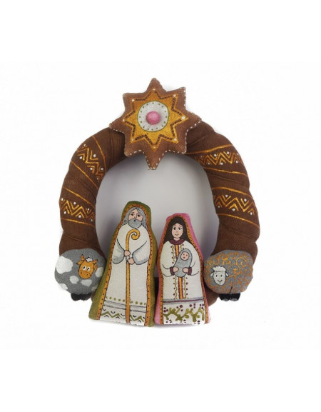 Christmas coffee wreath «Holy Family»